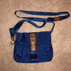 Hedgren small nylon blue crossbody bag